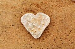 Coração de pedra Fotografia de Stock