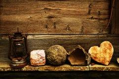 Coração de pedra Fotografia de Stock Royalty Free