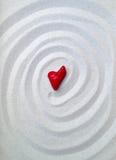 Coração de pedra cor-de-rosa Fotos de Stock