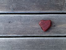 Coração de pedra vermelho Fotografia de Stock