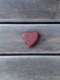 Coração de pedra vermelho Imagens de Stock