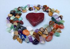 Coração de pedra vermelho Imagem de Stock