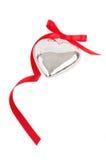 Coração de prata Imagens de Stock
