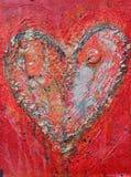Coração de prata, pintura, textured e abstrato imagem de stock royalty free