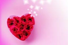 Coração de Rosa Fotografia de Stock