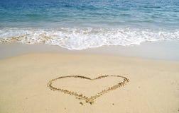Coração de Sandy Foto de Stock Royalty Free