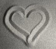 Coração de Sandy mim Fotos de Stock Royalty Free