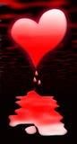 Coração de sangramento Fotos de Stock Royalty Free
