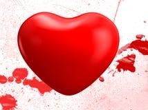 Coração de sangramento Fotografia de Stock Royalty Free