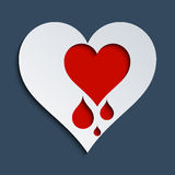 Coração de sangramento Ilustração do Vetor