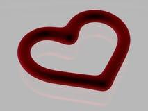 Coração de sangramento - isolado - 3D ilustração do vetor