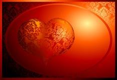 Coração de seda Imagem de Stock
