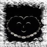Coração de sorriso das fases da lua Imagens de Stock Royalty Free
