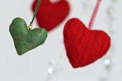 Coração de suspensão dado forma da decoração Imagem de Stock Royalty Free