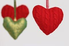 Coração de suspensão dado forma da decoração Fotografia de Stock Royalty Free