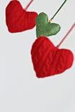 Coração de suspensão dado forma da decoração Imagens de Stock Royalty Free
