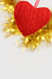 Coração de suspensão dado forma da decoração Foto de Stock