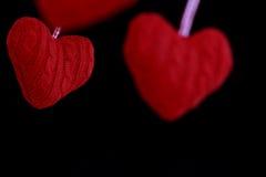 Coração de suspensão dado forma da decoração Fotos de Stock