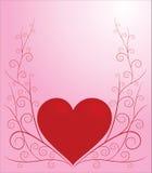 Coração de Swirly Imagem de Stock