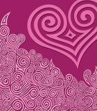 Coração de Swirly Fotografia de Stock