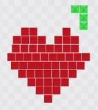 Coração de Tetris Foto de Stock