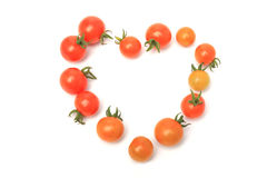 Coração de Tomoto no fundo branco Imagens de Stock Royalty Free