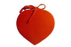Coração de um vermelho da tela foto de stock