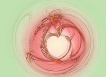 Coração de Valentin ilustração royalty free