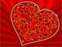 Coração de veludo Imagens de Stock Royalty Free