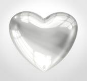 Coração de vidro brilhante ilustração royalty free