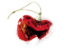 Coração de vidro congelado vermelho Fotos de Stock