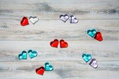 Coração de vidro para San Valentin, amantes, casamentos imagens de stock royalty free