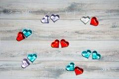 Coração de vidro para San Valentin, amantes, casamentos imagem de stock royalty free