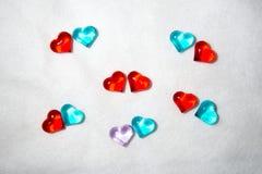 Coração de vidro para San Valentin, amantes, casamentos fotografia de stock royalty free