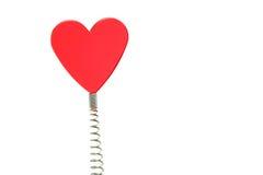Coração de vidro vermelho na mola Fotografia de Stock Royalty Free