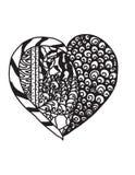 Coração de Zentangle Imagem de Stock