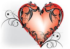 Coração decorativo Fotos de Stock