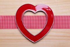 Coração decorativo do quadro Fotos de Stock Royalty Free
