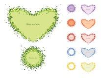 Coração decorativo do quadro das flores Fotografia de Stock