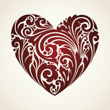 Coração decorativo do símbolo do vintage decorativo Foto de Stock