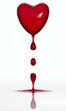 Coração deixando cair do sangue Imagem de Stock
