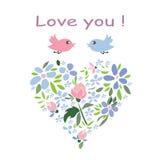 Coração delicado da flor Fotografia de Stock Royalty Free