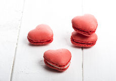Coração delicioso cookies dadas forma feitos a mão Foto de Stock