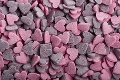 Coração delicioso cookies dadas forma feitos a mão Fotografia de Stock