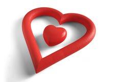 Coração dentro de um coração Imagens de Stock