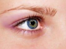 Coração dentro do olho Fotos de Stock