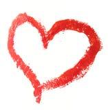 Coração desenhado Fotografia de Stock