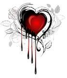 Coração desenhado com pintura ilustração do vetor