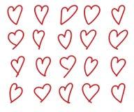 Coração desenhado mão ilustração stock