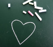 Coração desenhado mão Imagens de Stock Royalty Free